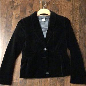 J.Crew Black Velvet Jacket